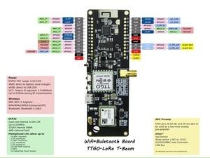 Image 5 - Ttgo T Fascio Esp32 915Mhz Wifi Senza Fili di Bluetooth Modulo Esp32 Gps Neo 6M Sma Lora 32 18650 Supporto Della Batteria con Softrf IP5306
