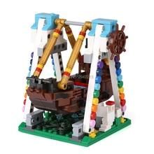 hot LegoINGly city creators mini Street view Playground Pirate Ship series Building Blocks model bricks toys for children gift
