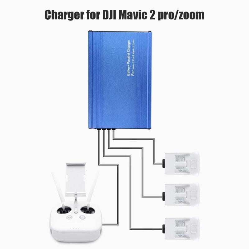 Chargeur de batterie de Drone ALLEOT Mavic2 5 in1 moyeu de charge pour DJI Mavic 2 Zoom/Pro adaptateur de charge de voiture de batterie intelligente