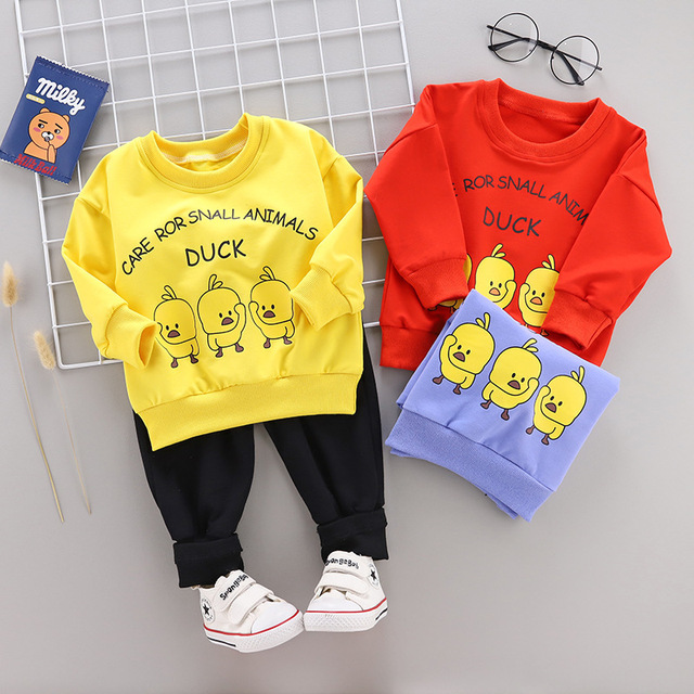 72a62235d 2019 New Spring Autumn Children Boys Girl Cotton Tracksuits Baby ...