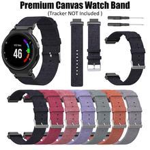 Premium Canvas Replacement Watch Strap Wrist band for Garmin Forerunner 230 235 220 620 630 735 Smart Accessories