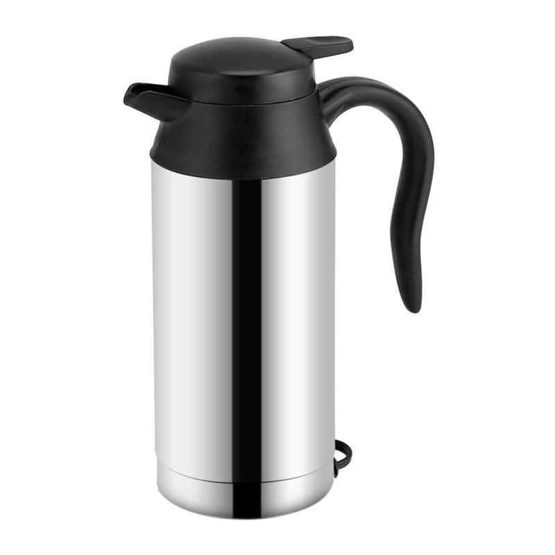 Portable Car Electric Kettle Travel Car Cigarette Lighter DC12V/24V Hot Water Kettle Fast Boiling For Tea Coffee 750ml Auto Sh