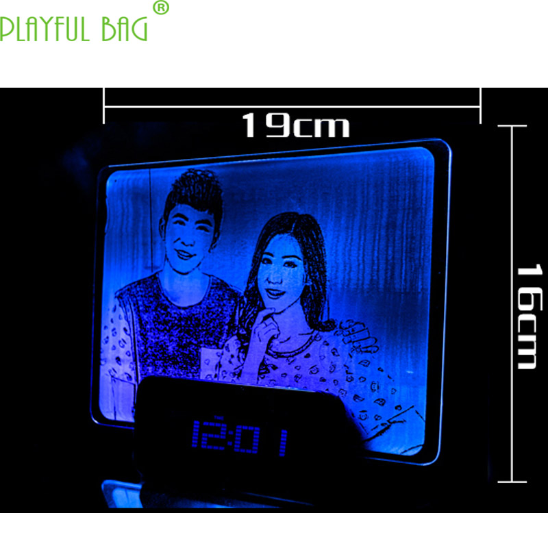 Self customized photo frames Creative DIY custom LED lamp Novelty home decoration Gifts for children Couples's presents