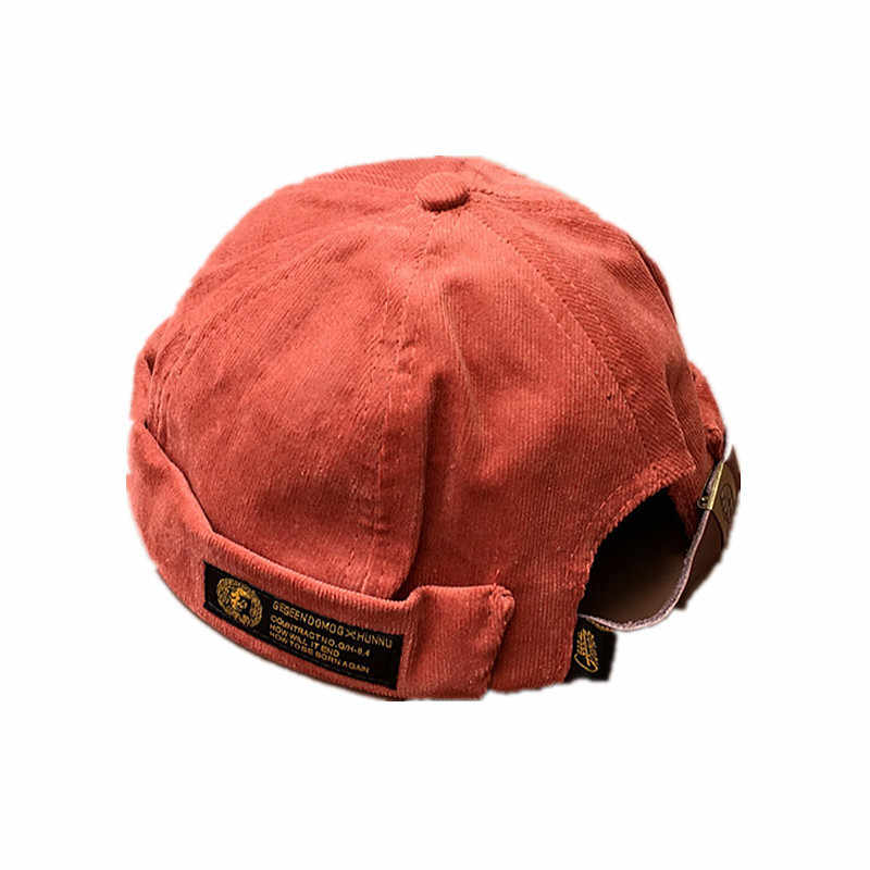 63f315cf7b5 ... Restore Ancient Corduroy Original Tide Brand Skullcap Men And Trend Hip- hop Seaman Hat Autumn ...