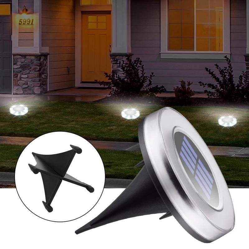 4pcs LED Buried Solar Power Light Under Ground Lamp Outdoor Path Way Garden Deck