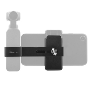 Image 2 - Cell Phone Mount Clamp Clip Securing Holder for DJI OSMO Pocket Handheld Gimbal Stabilizer Adapter Smartphone Support Accessory