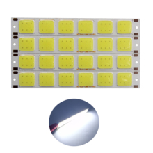 цена на 10pcs/lot 2018 new 129*17.5mm 6 grids flexible led cob strip bulb light cold white cob led strip source for diy auto light