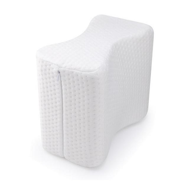 Almohada de pierna de memoria de resiliencia en forma de U algodón blanco cómodo Anti-reflujo almohada rodilla cojín de pierna Anti-venosa para embarazadas