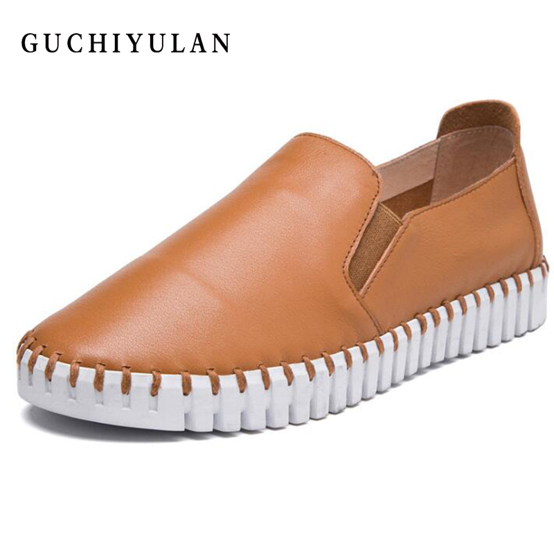 2018 Pour 17 13 Sneakers 1 14 7 9 Femmes 2 4 5 18 8 Bateau 3 11 Cuir Rond En Rouge Oxford Bout Mocassins 12 10 Appartements 15 6 16 Printemps Chaussures O1rqHO