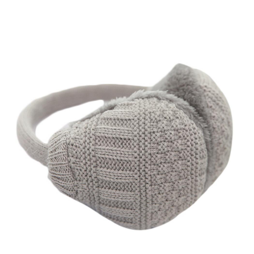 Men Women Knitted Earmuff Winter Warm Plush Ear-cap Outdoor Autumn, Skiing 29cm/11.4inch Unisex Accessories