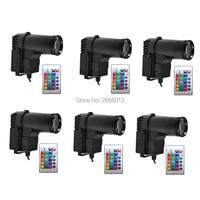6pcs/lot Wireless Remote Control 10W RGB LED Spotlight /LED Beam Stage Pinspot Light DJ Spot Lighting For Mirror Ball Reflection