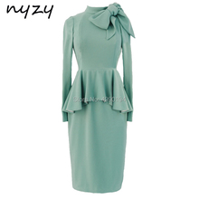 NYZY M122 Mint Mother Of Bride Evening Dress
