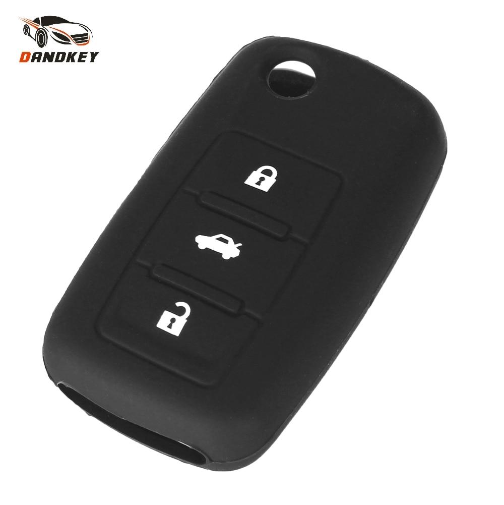 Dandkey 3 Botão Silicone Tampas Chave Do Carro styling de carro Para Volkswagen Para Vw Jetta Golf Beetle Passat Polo Bora 3 botões