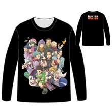 Hot Anime Hunter X T-shirt Men Tops Unisex Cosplay dress  Long sleeve HUNTERX HUNTER T shirt Tees