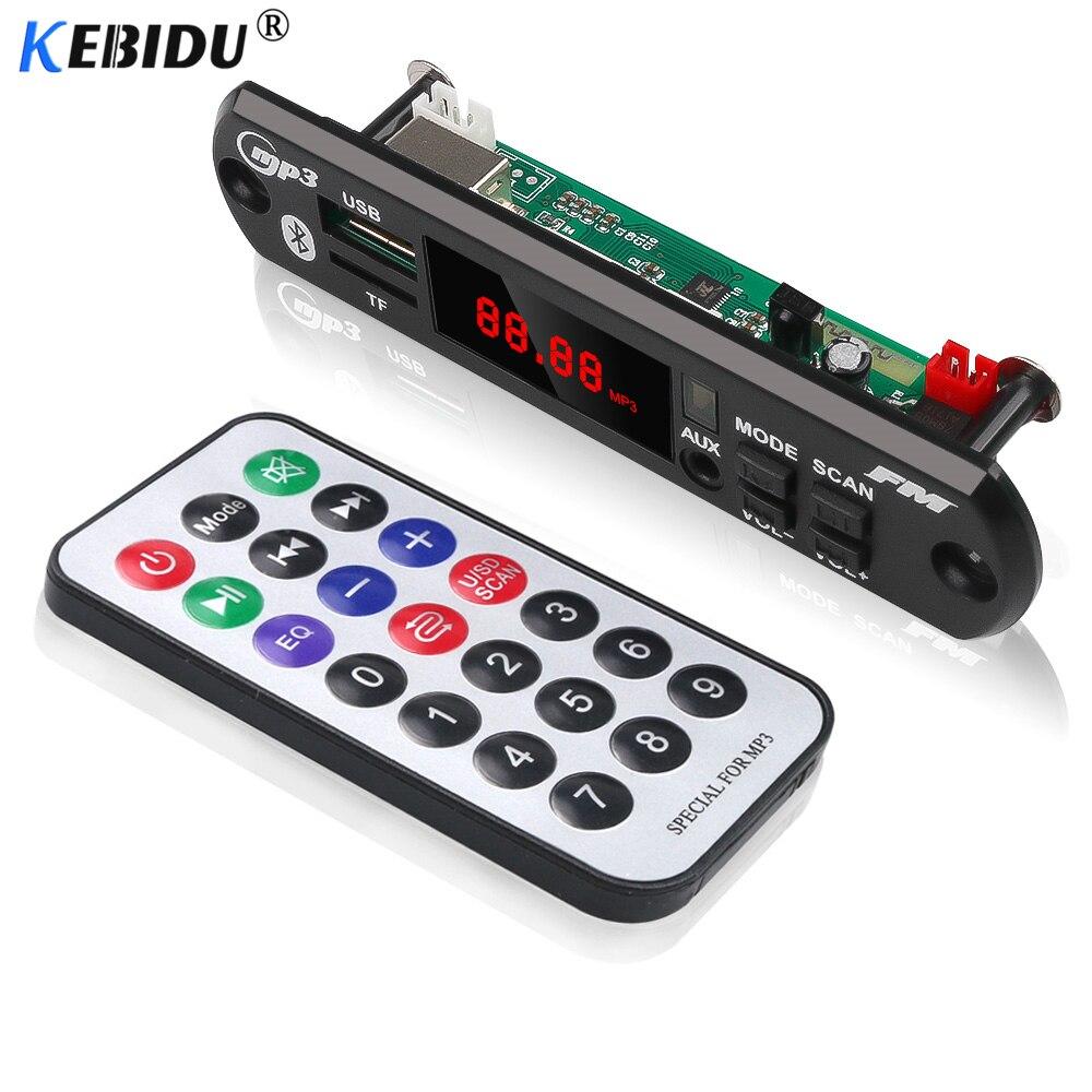 Sonnig Kebudi Drahtlose Bluetooth Auto Audio 5 V 12 V Mp3 Wma Decoder Board Player Usb Tf Fm Radio Modul Mp3 Player Farbe Bildschirm Für Auto Unterhaltungselektronik