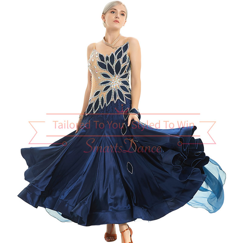 Private Label Dancewear Bespoke Ballroom Dresses Smooth Practice Dress Dance Competition Costumes Ballroom Dance Clothes