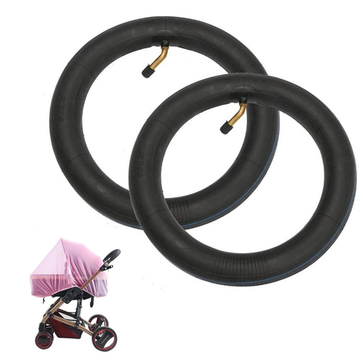 10x2'' Thickened Butyl Rubber Pneumatic Inner Tube For Scooter Pram Universal Kids Bike Trike Tricycle Rear Wheel Pushchair Tyre