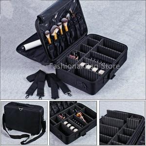 Image 4 - Makeup Bag Organizer Professional Makeup Artist Box Larger Bags Cute Korea Suitcase Makeup Suitcase fashion cosmetic bag Case