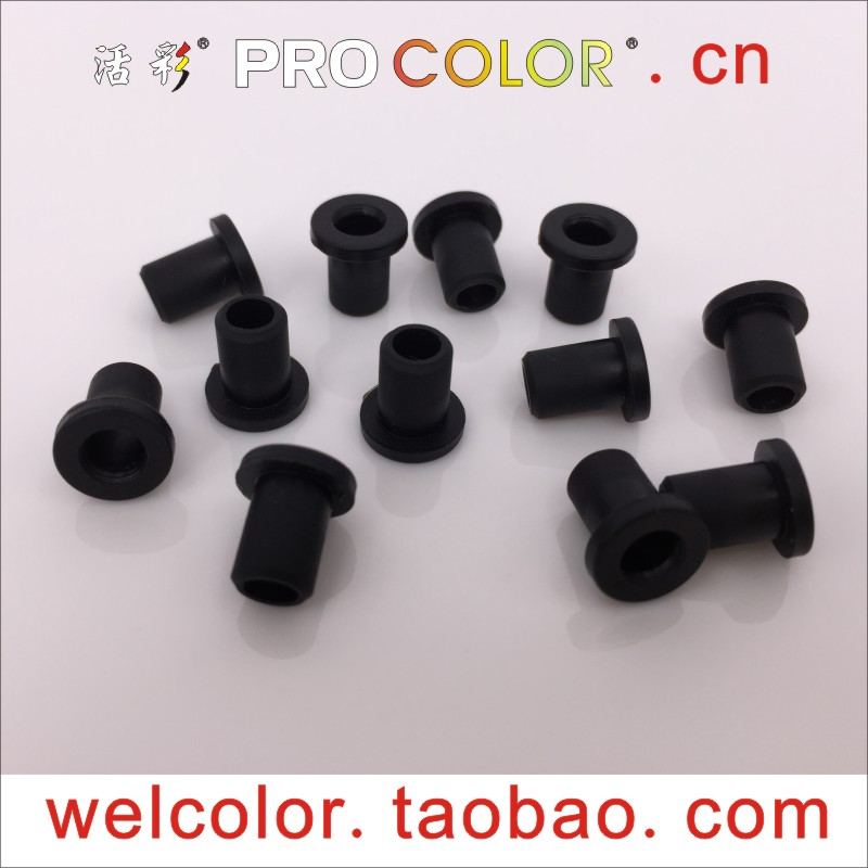 Top quality! Pro 4.8mm Round domed grommet Plastic end Plug blanking