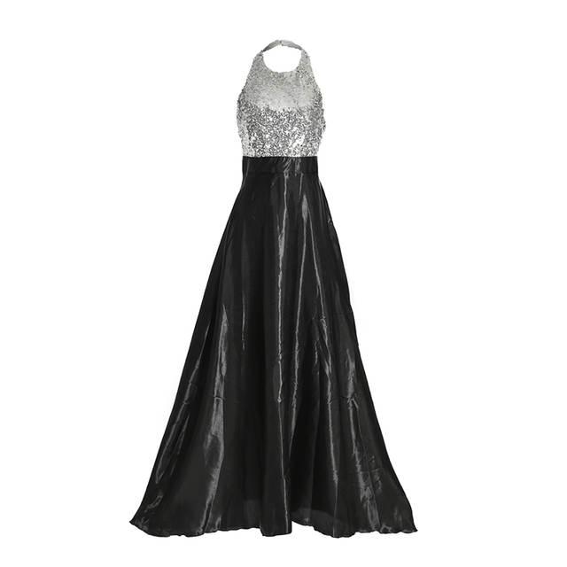 b47cbb173f Women Sexy Elegant Dress Formal Prom Long Sequin Dresses Evening Party Maxi  Dress Ladies Costume Femme Clothes Fashion New 2019