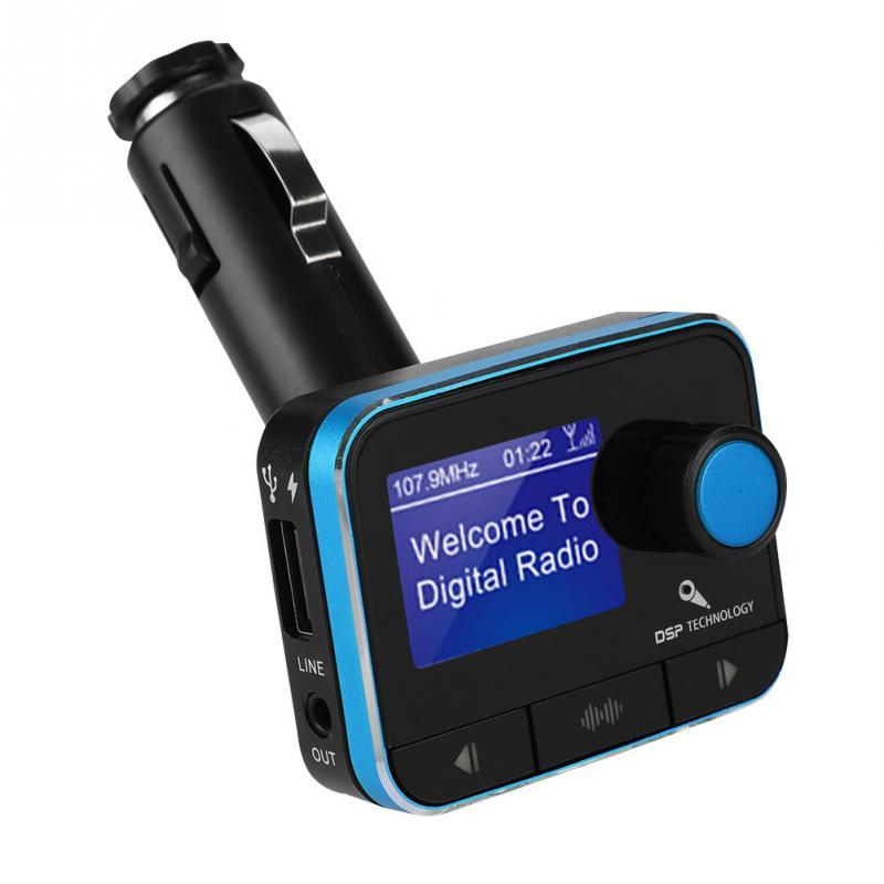 Autoradio DAB + récepteur Portable Mini transmetteur Radio FM voiture lecteur Bluetooth Support U disque TF carte Radios Kit