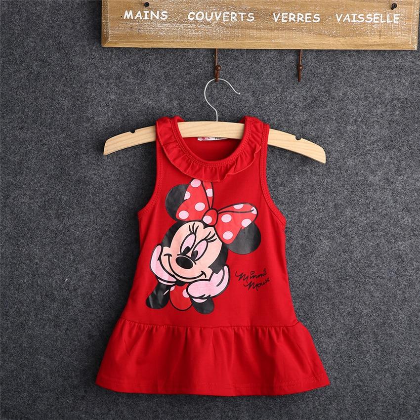 Pudcoco Costume Child Woman 2018 Summer time 100% Cotton Tops Sleeveless Costume Cartoon Trend Costume Child Woman Cartoon Tops Costume