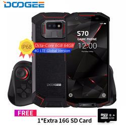 DOOGEE S70 для телефона с мотивами игр IP68/IP69K Водонепроницаемый Беспроводной зарядка NFC 5500 мА/ч, 12V2A Quick Charge 5,99 FHD Helio P23 Octa Core 6 ГБ 64 ГБ