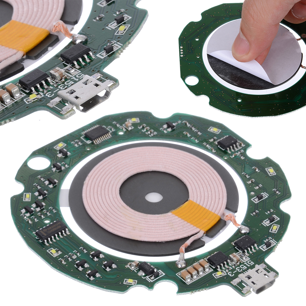 High Quality Standard 10W Qi Fast Wireless Charger Module Transmitter PCBA Circuit Board + Coil DIY Charging