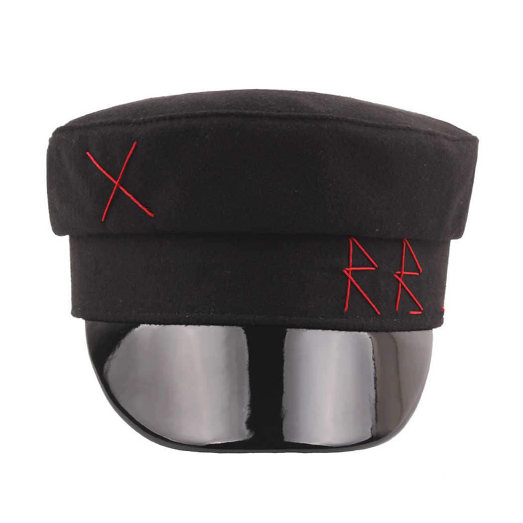 Женская и мужская зимняя армейская военная шапка, модный дизайн, осенняя Военная Кепка, берет, женская кепка с козырьком, шерстяные шляпы матроса