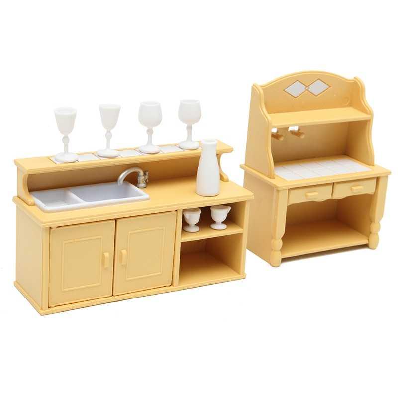 Современные миниатюры кухонные шкафы набор куклы дом мебель украшения Детские игрушки, куклы подарок для дома Детская комната Декор