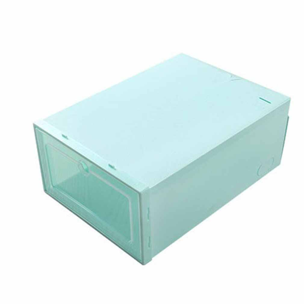 Durable Plastic Thickened Boxes Case Transparent Shoes Box Home Organizer Sneakers Organization Storage Shoe Cabinet