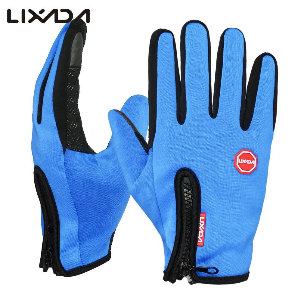 Lixada Cycling Gloves Windproof Winter Outdoor Sports Bike Riding Gloves Touchscreen Hand Warmers For Casco Ciclismo