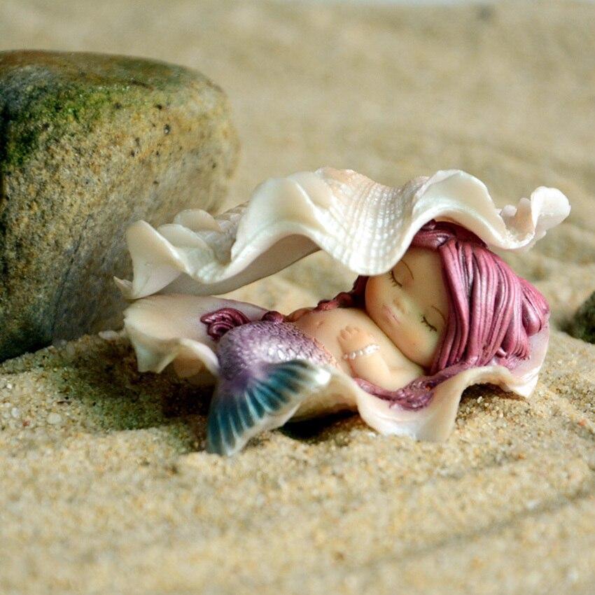 Europe créative Mini sirène animaux décor à la maison Micro fée jardin Figurines Miniatures aquarium décor bricolage accessoires