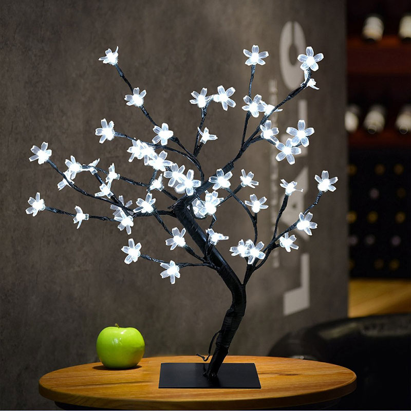 Sakura Christmas Party.Us 18 02 22 Off Zinuo 48leds Usb Led String Light Fairy Cherry Blossom Led Table Lamps Sakura Christmas Party Wedding Event Light With Switch In Led
