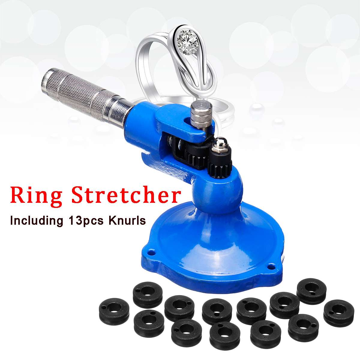 Ring Stretcher Expander Sizing Machine Roller For Stone Set Jewelry Making Tool Soild Steel Material with 13 Different KnurlsRing Stretcher Expander Sizing Machine Roller For Stone Set Jewelry Making Tool Soild Steel Material with 13 Different Knurls