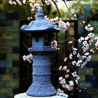 Япония стиль винтаж статуэтки и миниатюрные украшения сад ландшафтный для внутреннего двора держатель лампы подсвечник имитация камня рем