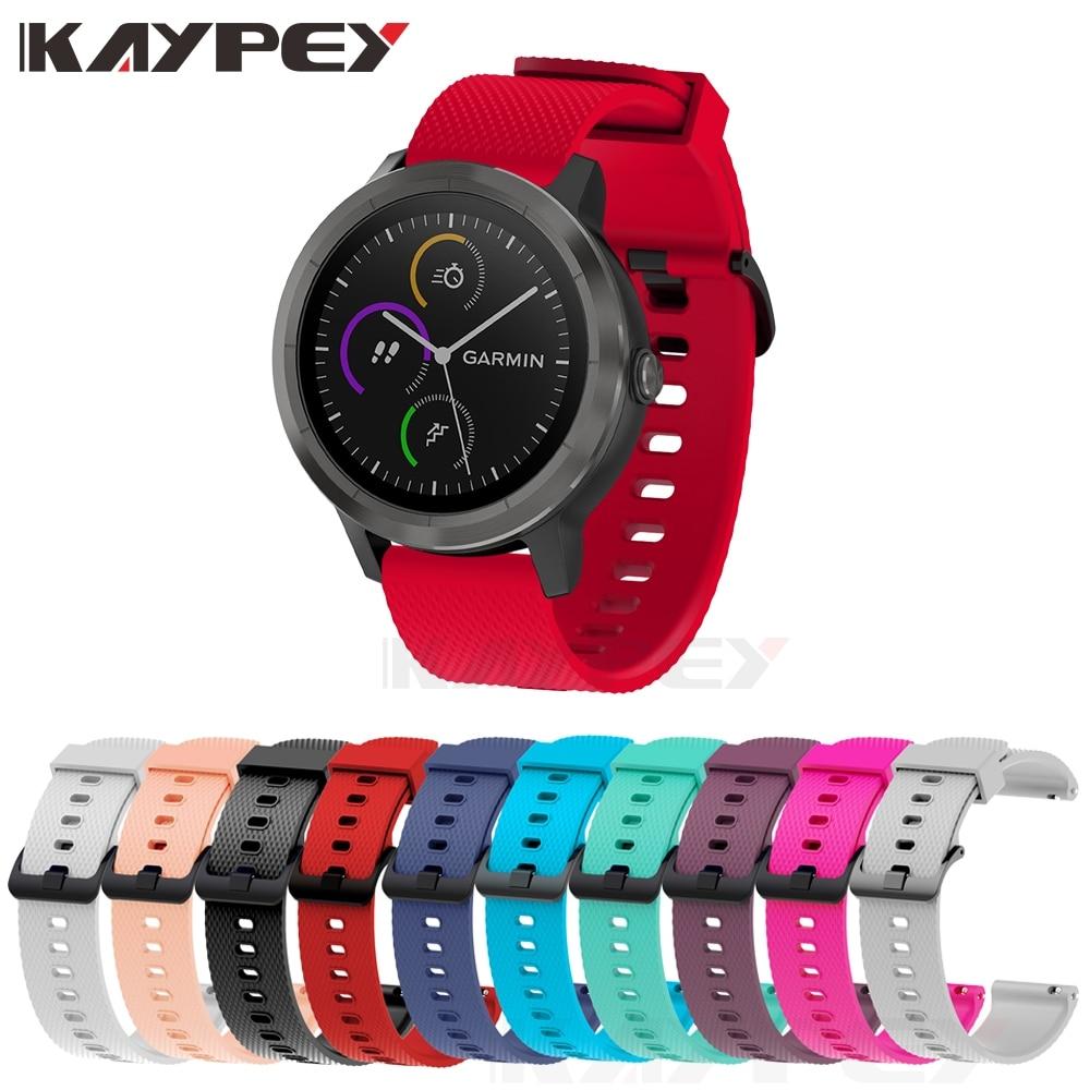 Soft Silicone Replacement Strap For Garmin Vivoactive3 3 Vivomove HR Smart Wristband For Forerunner 645 Music Stripe Wrist Strap