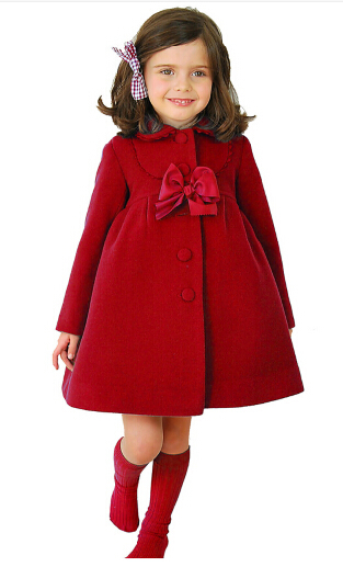 3-color girl jacket and winter warm jacket high quality long-sleeved wool jacket 3 to 8 years old girl warm jacket