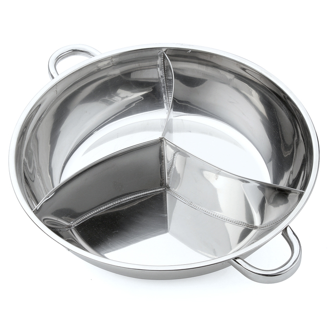 Stainless Steel Pot with 3 Sections