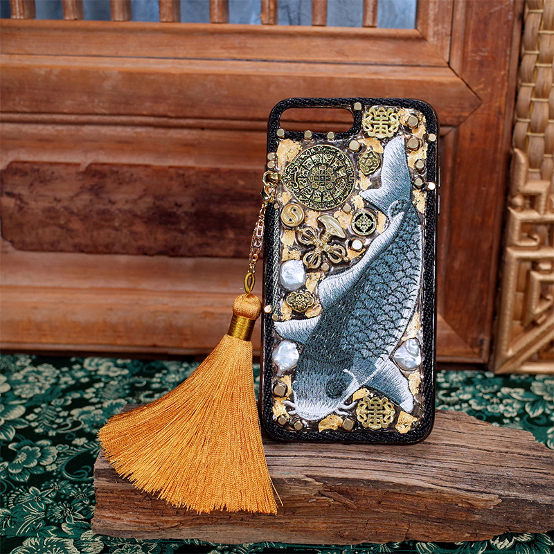 Limited Edition for Iphone 7 Case Handmade Heavy Metal Embroidery Gold Foil Mechanical Style 5.5 Inches for Iphone Xs Max CaseLimited Edition for Iphone 7 Case Handmade Heavy Metal Embroidery Gold Foil Mechanical Style 5.5 Inches for Iphone Xs Max Case