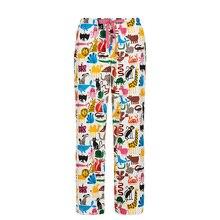2019 Spring Cotton Flannel Pajama Pants Women Corgi Pug Printed Sleep Bottoms