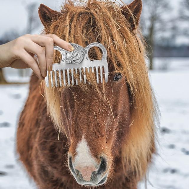 Aluminum Alloy Horse Combing Tool  6