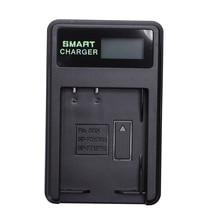 Akıllı şarj edilebilir pil şarj cihazı Lcd ekran tek yuvası W Usb kablosu için Np Bd1/Fd1/Ft1/Fr1 lityum piller