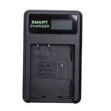 Carregador de bateria recarregável inteligente display lcd único slot w cabo usb para Np Bd1/fd1/ft1/fr1 baterias de lítio