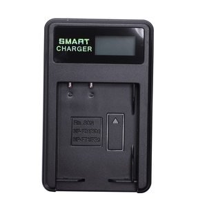 Image 1 - Smart Rechargeable Battery Charger Lcd Display Single Slot W Usb Cable For Np Bd1/Fd1/Ft1/Fr1 Lithium Batteries
