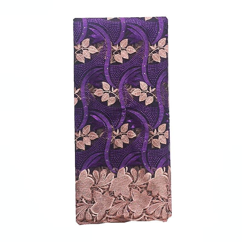 Wysokiej jakości afryki koronki tkaniny netto 2019 francuski koronki tkaniny tiulu z kamieniami gipiury nigerii koronki tkaniny na wesele fioletowy w Koronka od Dom i ogród na  Grupa 1