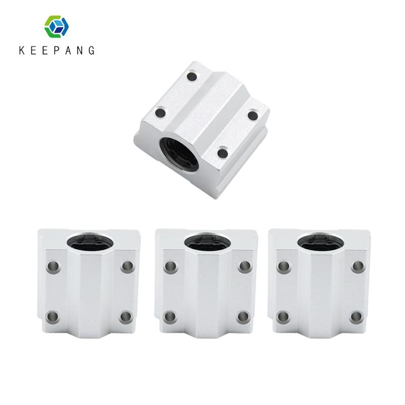 1pc Linear Motion Ball Bearing Block SC6UU SC8UU SC10UU SC12UU Ball Bearing Linear Motion Bearing Slide For 3D Printer Part