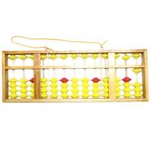 จีนAbacus 13 คอลัมน์ไม้แขวนขนาดใหญ่ลื่นAbacusจีนSorobanเครื่องมือคณิตศาสตร์คณิตศาสตร์เด็กการศึกษาของเล่น 58 ซม.