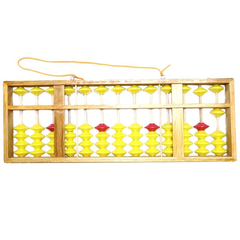 Abacus chinois 13 colonne bois cintre grande taille antidérapant Abacus chinois Soroban outil en mathématiques enfants mathématiques éducation jouet 58Cm