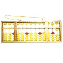 Boulier chinois 13 colonne bois cintre grande taille antidérapant boulier chinois Soroban outil en mathématiques enfants maths éducation jouet 58Cm